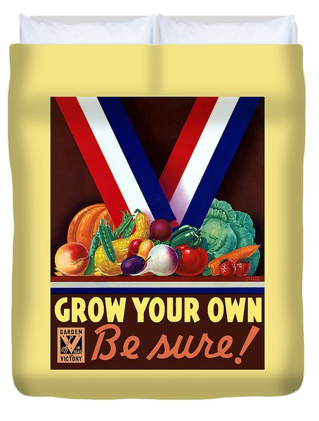 Grow Your Own Victory Garden Duvet Cover by War Is Hell Store