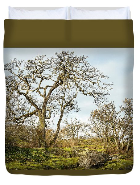 Growing Among The Rocks 1 Duvet Cover
