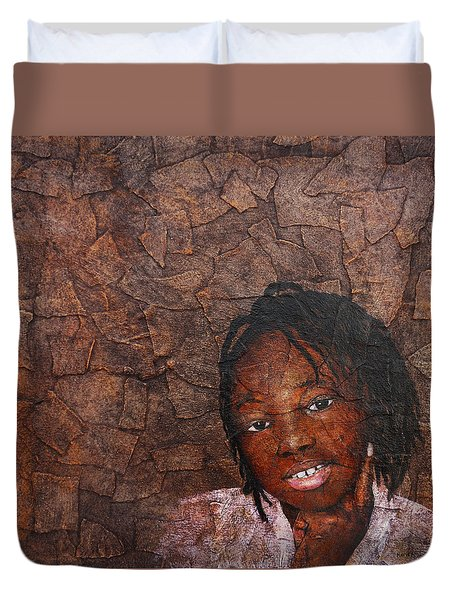 Growing Dreads Duvet Cover by Ronex Ahimbisibwe