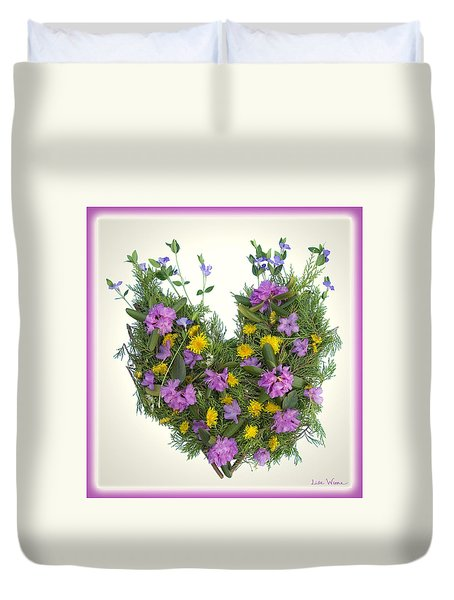 Growing Heart Duvet Cover by Lise Winne