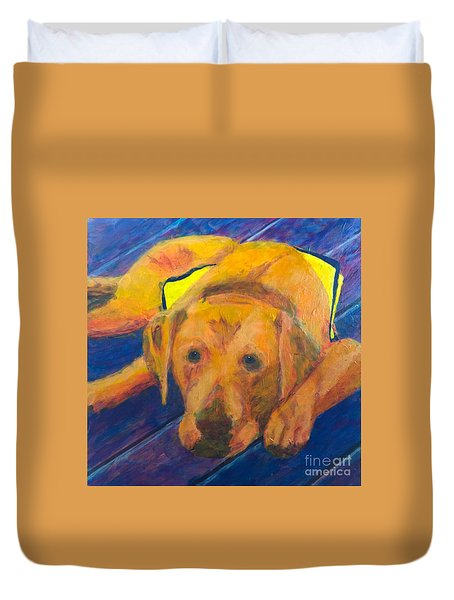 Growing Puppy Duvet Cover