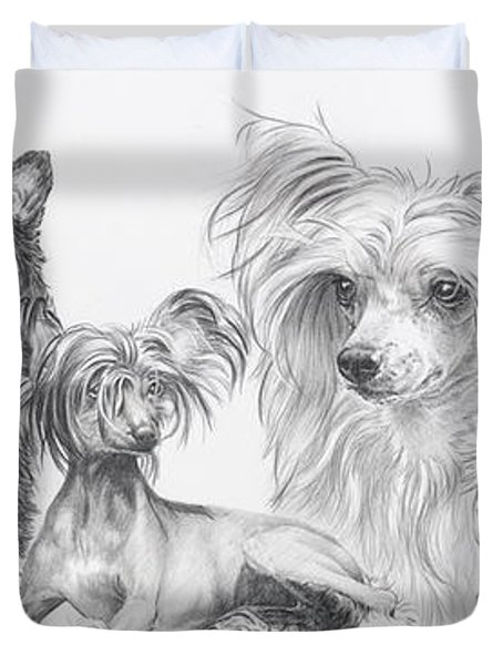 The Chinese Crested And Powderpuff Duvet Cover