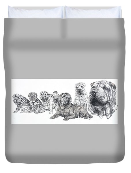 Growing Up Chinese Shar-pei Duvet Cover