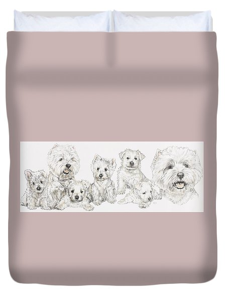 Growing Up West Highland White Terrier Duvet Cover by Barbara Keith