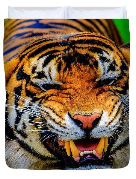 Growling Tiger Duvet Cover