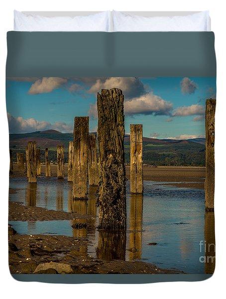 Groynes In Colour 1 Duvet Cover
