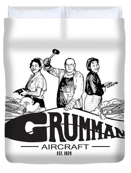 Grumman Aircraft Est 1929 Duvet Cover