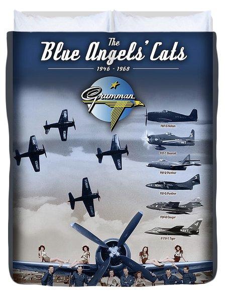 Grumman Blue Angels Cats Duvet Cover