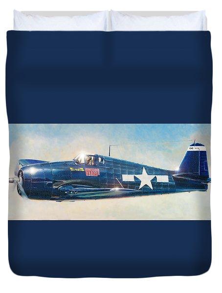 Grumman F6f-5 Hellcat Duvet Cover