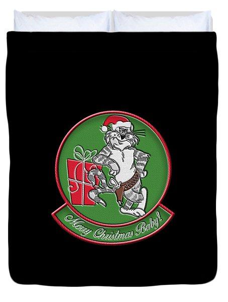 Grumman Merry Christmas Duvet Cover