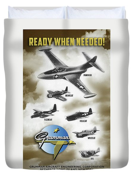 Grumman Ready When Needed Duvet Cover