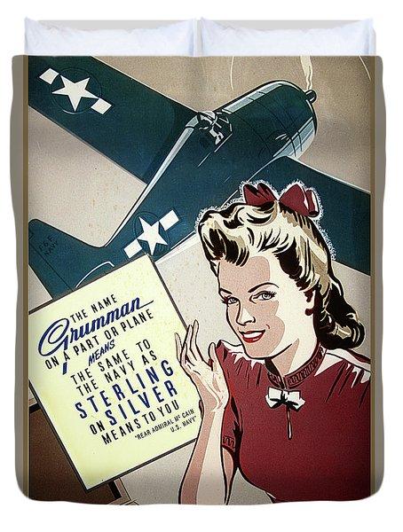 Grumman Sterling Poster Duvet Cover