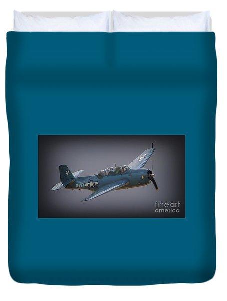 Grumman Tbf Avenger No.41 Bluegray Duvet Cover