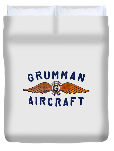 Grumman Wings Blue Duvet Cover