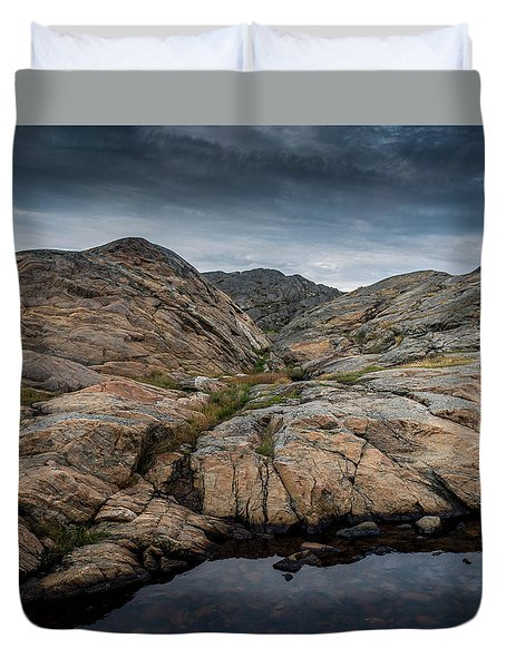 Grundsund, Sweden Duvet Cover by Martina Thompson
