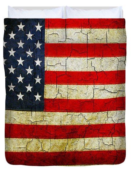 Grunge American Flag  Duvet Cover