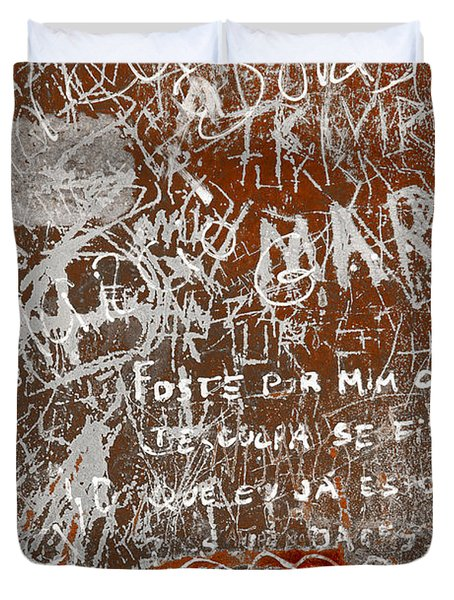 Grunge Background Duvet Cover by Carlos Caetano