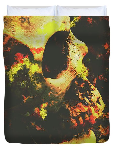 Grunge Frightener Duvet Cover