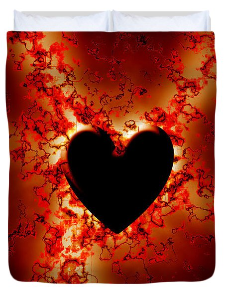 Grunge Heart Duvet Cover by Phill Petrovic