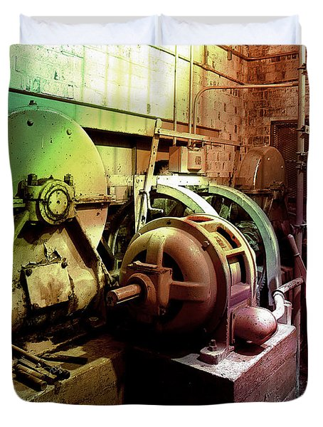 Grunge Hydroelectric Plant Duvet Cover