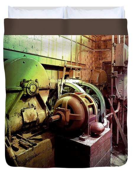 Duvet Cover featuring the photograph Grunge Hydroelectric Plant by Robert G Kernodle