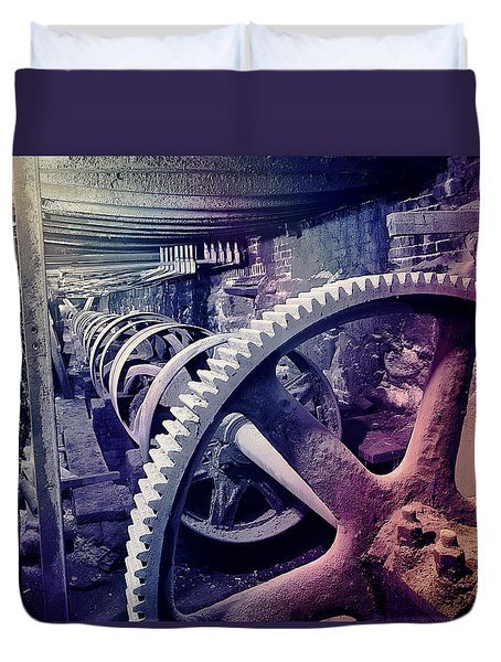Grunge Large Gear Duvet Cover