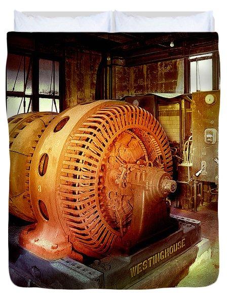 Grunge Motor Generator Duvet Cover