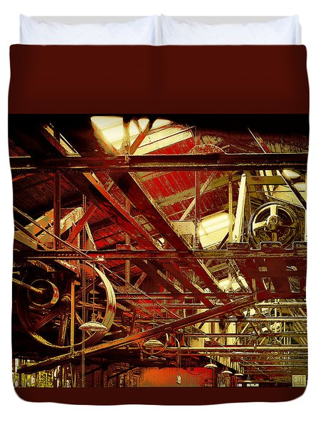 Grunge Power System Duvet Cover