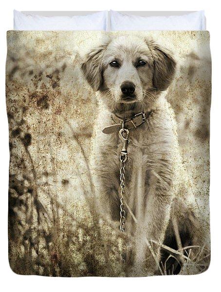 Grunge Puppy Duvet Cover