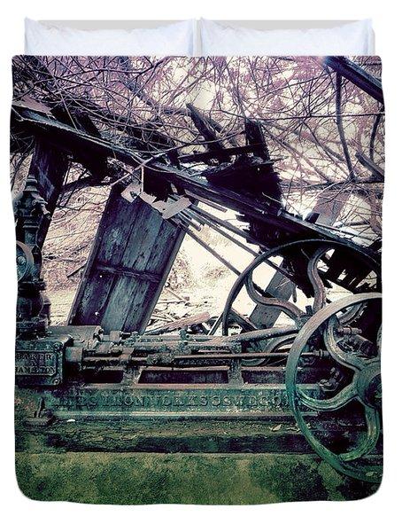 Grunge Steam Engine Duvet Cover