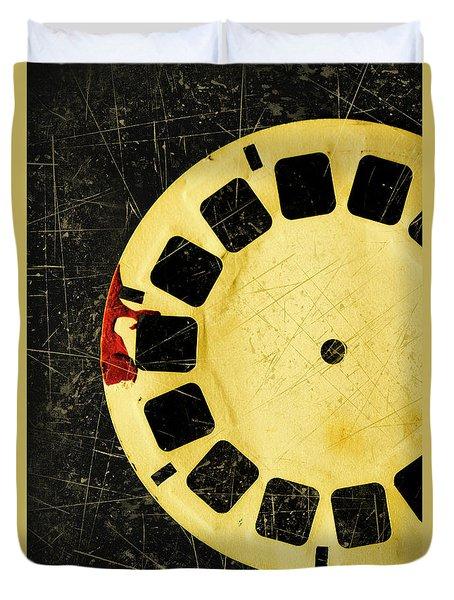 Grunge Toy Artwork Duvet Cover