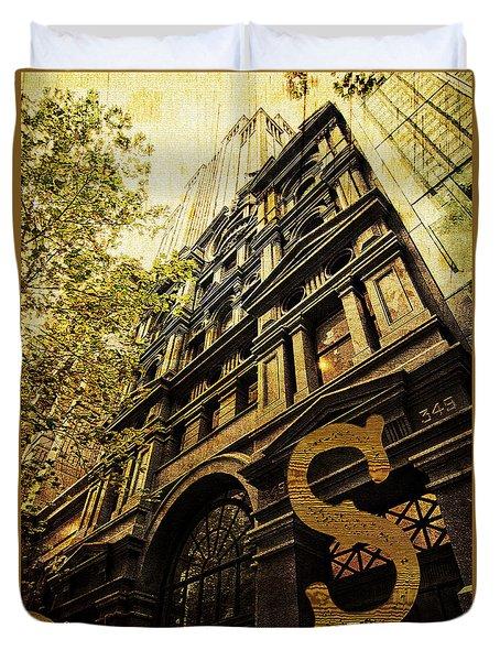 Grungy Melbourne Australia Alphabet Series Letter S Collins Stre Duvet Cover