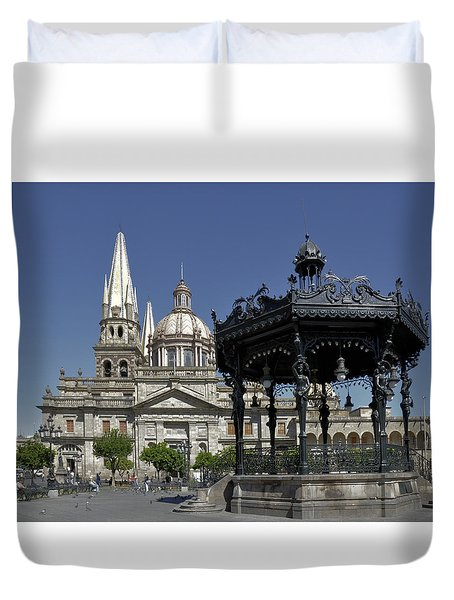 Duvet Cover featuring the photograph Guadalajara by Jim Walls PhotoArtist