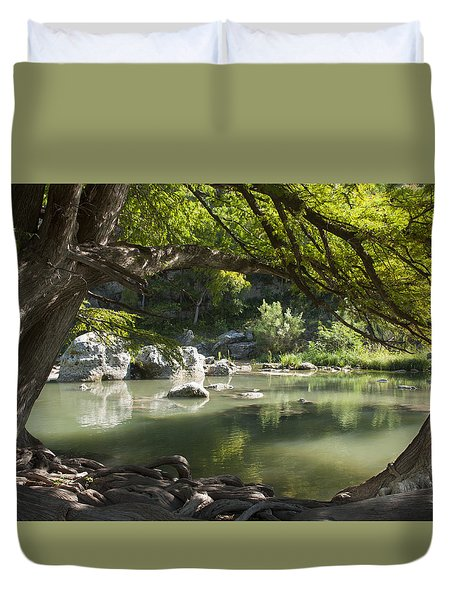 Guadalupe River Duvet Cover