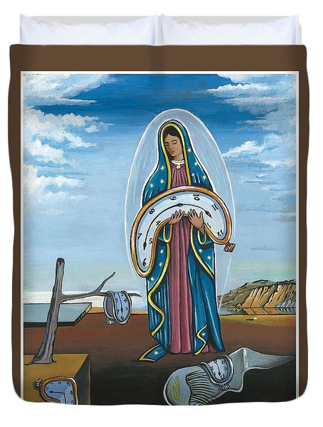 Guadalupe Visits Dali Duvet Cover by James Roderick