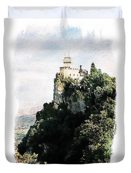 Guaita Castle Fortress Duvet Cover