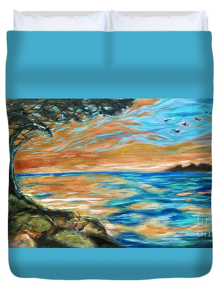 Guana Sunset Duvet Cover by Linda Olsen