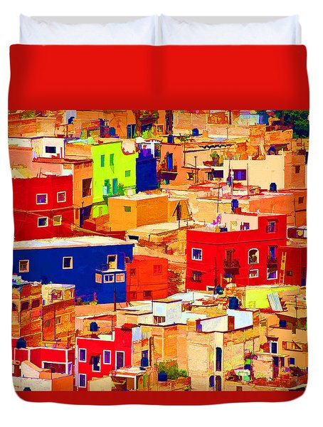 Duvet Cover featuring the photograph Guanajuato Color by Dennis Cox WorldViews