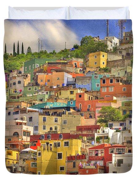Guanajuato Hillside Duvet Cover