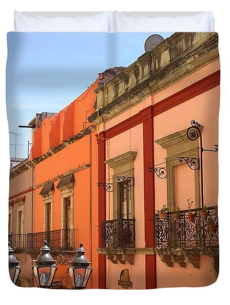 Duvet Cover featuring the photograph Guanajuato by Mary-Lee Sanders