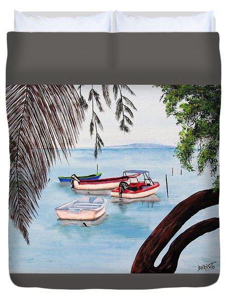 Guanica Bay Duvet Cover
