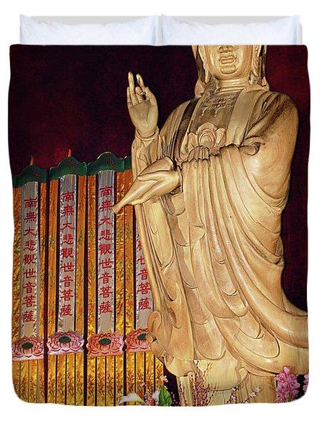 Guanyin Bodhisattva - Jin'an's Rare Female Buddha Duvet Cover by Christine Till