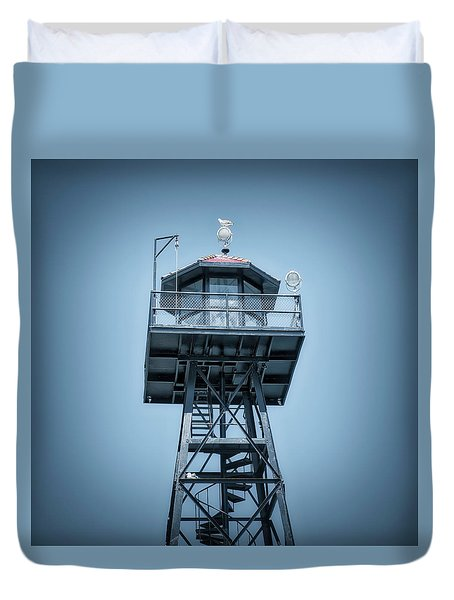 Guard Gulls Duvet Cover