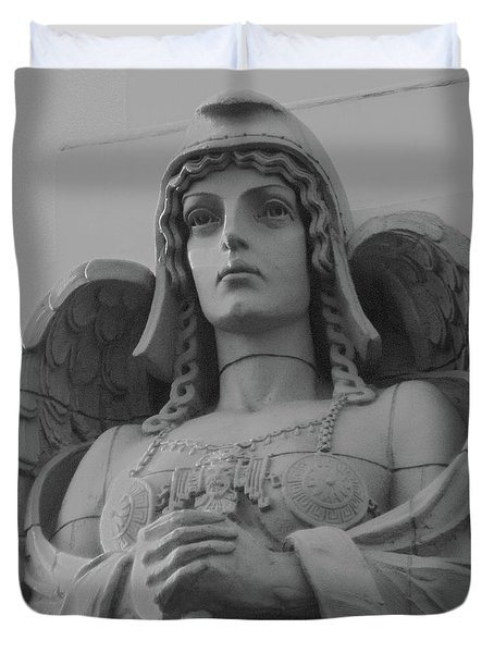 Guardian Angel On Watch Duvet Cover