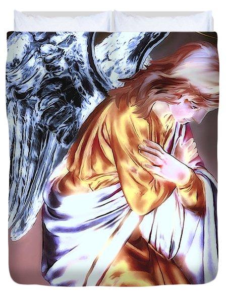 Guardian Angel Duvet Cover by Pennie  McCracken