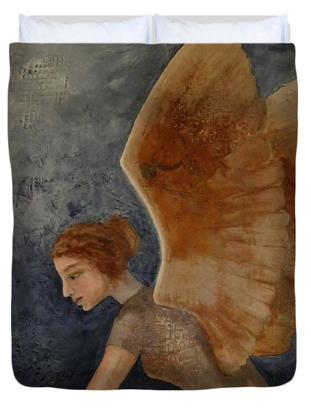 Guardian Angel Duvet Cover by Terry Honstead