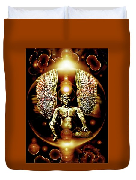 Guardian  Archangel Duvet Cover by Hartmut Jager