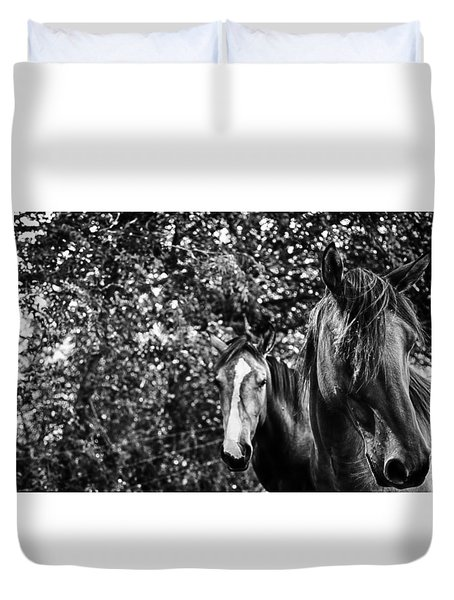 Guardian Of His Mate Duvet Cover by Toni Hopper