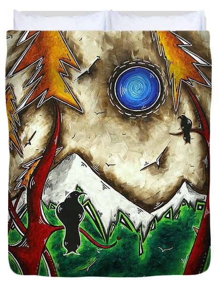 Guardians Of The Wild Original Madart Painting Duvet Cover by Megan Duncanson