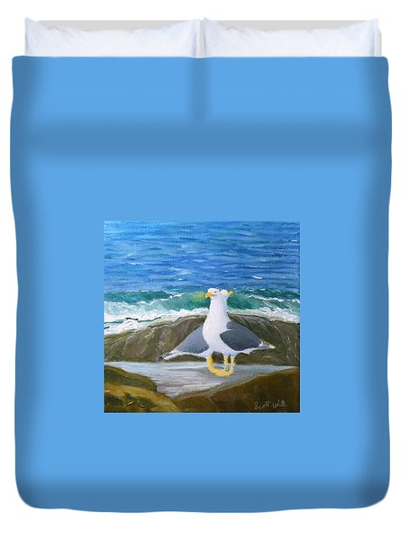 Guarding The Land And Sea Duvet Cover